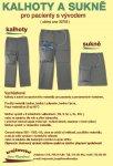 zakázkové šití kalhot a sukní pro pacienty s vývodem